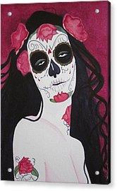Bewitching Calavera Acrylic Print by Teresa Beyer