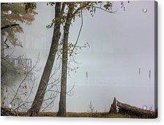 Beyond The Fog Acrylic Print by Barry Jones