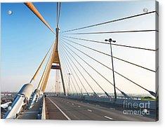 Bhumipol Bridge Acrylic Print by Atiketta Sangasaeng