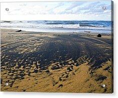 Bi Color Beach  Acrylic Print by Tim Fitzwater
