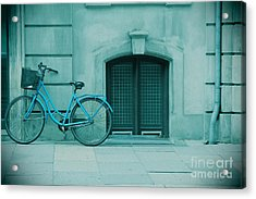 Bicycle Blues Acrylic Print by Sophie Vigneault