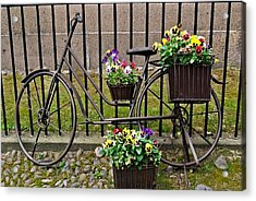 Acrylic Print featuring the photograph Bicycle In Salem by Caroline Stella