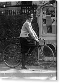 Bicycle. Julia Obear, Bike Messenger Acrylic Print by Everett