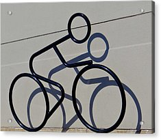Bicycle Shadow Acrylic Print by Julia Wilcox