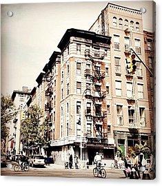 Bicycles - Greenwich Village - New York City Acrylic Print