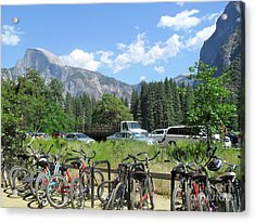Acrylic Print featuring the photograph Bicycles Yosemite by Beth Saffer