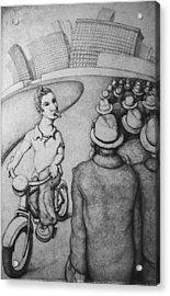 Bicyclist Acrylic Print by Louis Gleason