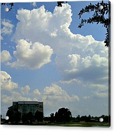 Big Bang What? #creation #clouds #sky Acrylic Print by Kel Hill