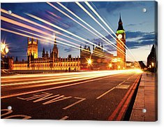 Big Ben And The Houses Of Parliament. Acrylic Print by Stuart Stevenson photography