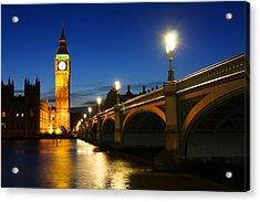 Big Ben And Westminster Bridge Acrylic Print by Dan Breckwoldt