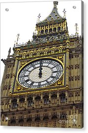 Acrylic Print featuring the photograph Big Ben High Noon by Beth Saffer