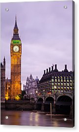 Big Ben In Twilight Acrylic Print