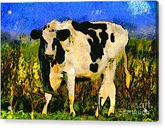 Big Bull 2 . 7d12437 Acrylic Print by Wingsdomain Art and Photography