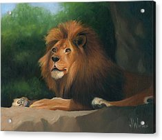 Acrylic Print featuring the painting Big Cat by Joe Winkler