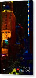 Big City Abstract Acrylic Print by Wingsdomain Art and Photography