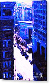 Big City Blues 2 Acrylic Print by Wingsdomain Art and Photography
