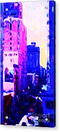 Big City Blues Acrylic Print by Wingsdomain Art and Photography