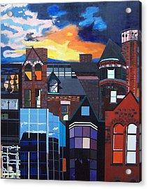 Big City Acrylic Print by Krista Ouellette