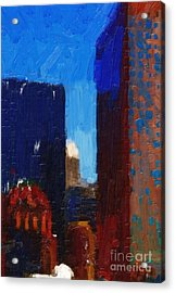 Big City Acrylic Print by Wingsdomain Art and Photography