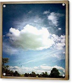 Acrylic Print featuring the photograph Big Cloud by Paul Cutright