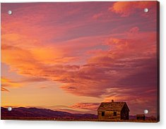 Big Colorful Colorado Sky And Little House On The Prairie Acrylic Print by James BO  Insogna