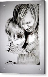 Acrylic Print featuring the drawing Big Hug by Lynn Hughes