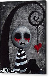 Big Juicy Tears Of Blood And Pain 2 Acrylic Print by Oddball Art Co by Lizzy Love