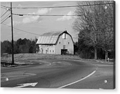 Acrylic Print featuring the photograph Big Metal Barn In The Curve by Bob Whitt