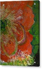 Big Orange Flower  Acrylic Print by Anne-Elizabeth Whiteway