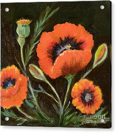 Big Orange Poppy Acrylic Print