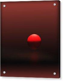 Acrylic Print featuring the photograph Big Red Ball by Deborah Smith