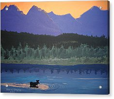 Acrylic Print featuring the painting Big Sky Country by Norm Starks