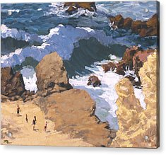Big Surf At Little Corona Acrylic Print by Mark Lunde
