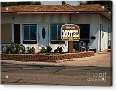 Bighorn Motel Acrylic Print by Lawrence Burry