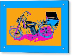 Bike-2c Acrylic Print by Mauro Celotti