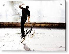 Bike Mx Acrylic Print by Gabriel Calahorra