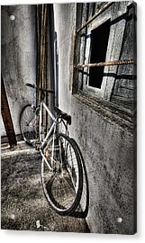 Bike Station Acrylic Print by Gabriel Calahorra