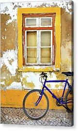 Bike Window Acrylic Print by Carlos Caetano