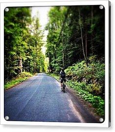Biking In The Catskills Acrylic Print