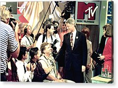 Bill Clinton Appears With Young Acrylic Print by Everett