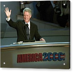 Bill Clinton, Touched By Emotion Acrylic Print by Everett