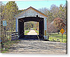 Billie Creek Village Covered Bridge Acrylic Print by Robin Pross