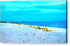 Biloxi Beach Acrylic Print by Scott Crump