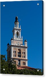 Acrylic Print featuring the photograph Biltmore Hotel Tower And Moon by Ed Gleichman