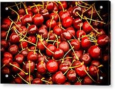 Bing Cherries Acrylic Print by Jen Morrison