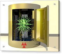 Biohazard Virus Acrylic Print by Laguna Design
