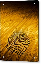 Biometric Security, Artwork Acrylic Print by Victor Habbick Visions