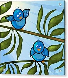 Bird Branch2 Acrylic Print by Melisa Meyers