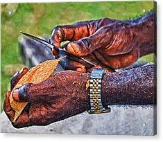 Bird Carver Acrylic Print