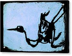 Bird On Blue Acrylic Print